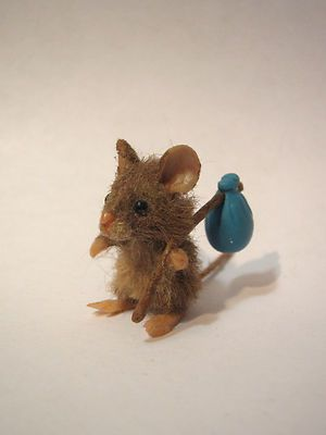 Miniature Artisan Signed & Handmade Mouse by Kristy L. Taylor