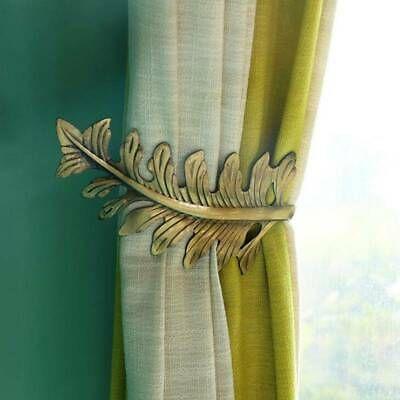 Sponsored Link U Shaped Leaf Curtain Holdback Wall Tie Backs