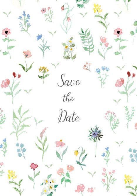 Save The Date Mariage Aquarelle Faire Part Mariage Et Save The