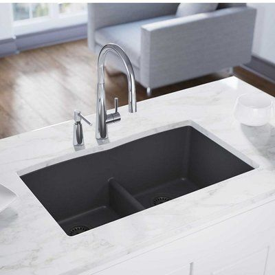 Elkay Quartz Classic 33 X 19 Double Basin Undermount Kitchen