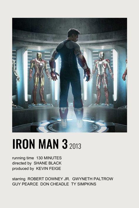 iron man 3 polaroid film poster