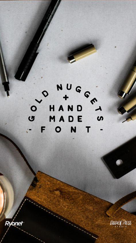 Gold Nuggets Handmade Font