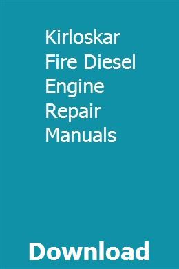 engine repair diagram kirloskar fire diesel engine repair manuals engine repair  kirloskar fire diesel engine repair