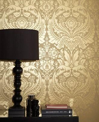 50-026 GRAHAM & BROWN DESIRE GOLD WALLPAPER | Wallpaper & wall paint ...