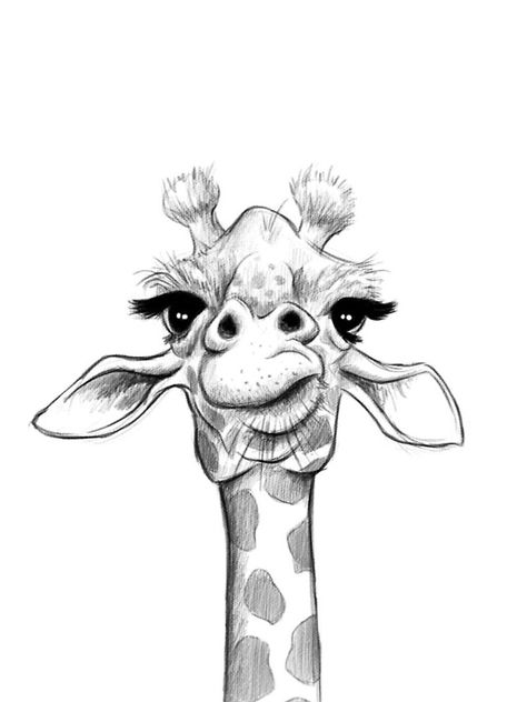 """Sketch Giraffe"" iPhone Case & Cover by JonThomson Animal Drawings, Cool Art Drawings, Painting Art Projects, Animal Sketches, Giraffe Art, Sketches, Art Drawings Sketches Creative, Art Drawings Simple, Animal Art"