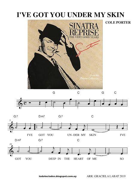 I Ve Got You Under My Skin Frank Sinatra Frank Sinatra Partituras John Legend