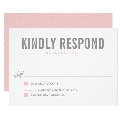 Pink And Gray Modern Typography Wedding Rsvp Card Zazzle Com