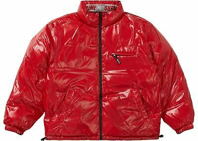Supreme Jacket Mens Shiny Reversible Puffy Jacket Black Red Size Small Fashion Clothing Shoes Accessories Men Menscloth In 2020 Puffy Jacket Jackets Mens Outfits