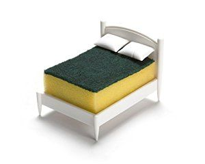 Clean Dreams Kitchen Sponge Holder by OTOTO Design (Scourer acts as a duvet!!)