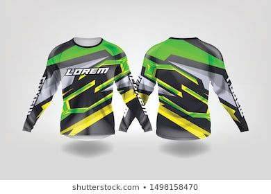 T Shirt Sport Design Template Long Sleeve Soccer Jersey Mockup For Football Club Uniform Front And Back View Motocross Jersey Mountain Bike Jersey Mtb Jersey
