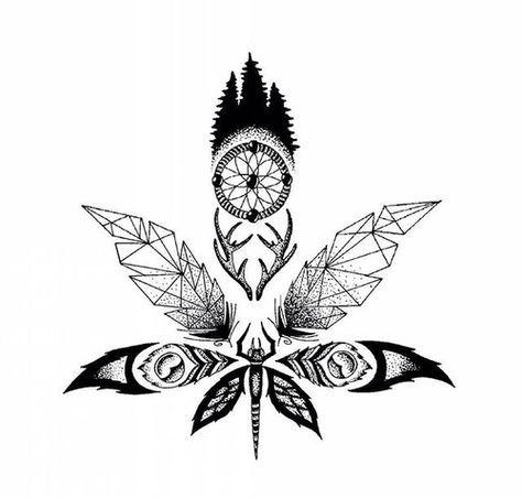 Тату марихуаны эскизы конопли купить курьер семена