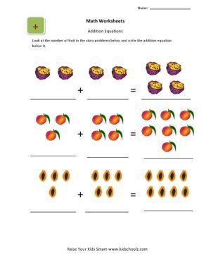 Worksheet. Activities Worksheets Part 2. Picture-addition ...