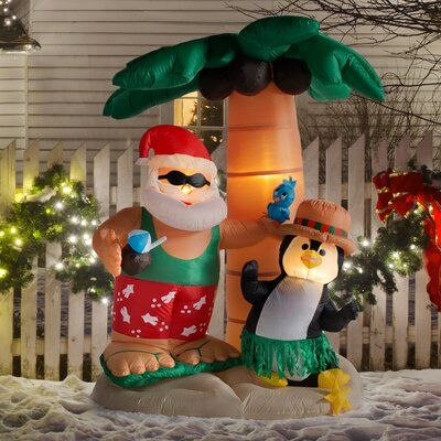 Inflatable Christmas decorations for pool