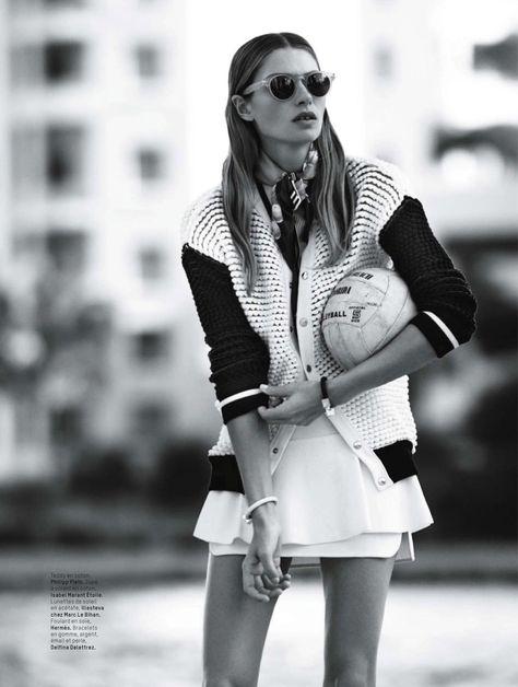 visual optimism; fashion editorials, shows, campaigns & more!: gym tonic: jessica hart by bjarne jonasson for l'officiel paris march 2014