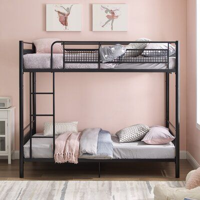 Isabelle Max Jordin Metal Twin Over Twin Bunk Bed Bed Frame Colour Black Bunk Beds Bunk Bed With Trundle Twin