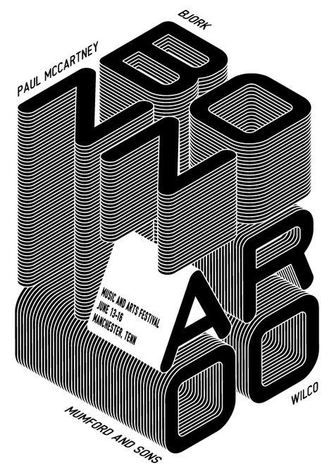 Bonnaroo music and arts festival poster.