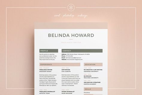 awesome Resume\/CV CreativeWork247 - Fonts, Graphics, Themes - fonts for a resume
