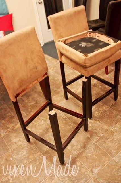 Reupholstered Bar Stools Upholstered Bar Stools Bar Stool Slipcovers Bar Stool Covers