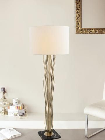 Teresa White Gold Gold Floor Lamp Contemporary Floor Lamps Floor Lamp