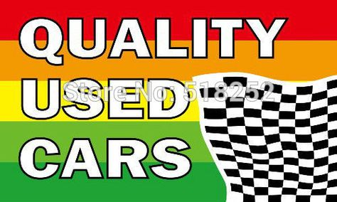 QUALITY USED CARS Flag 3x5 FT 150X90CM Banner 100D Polyester flag  brass grommets 031, free shipping