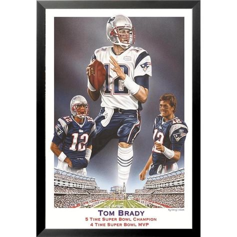 Tom Brady 4-Time Super Bowl MVP Signature Pin