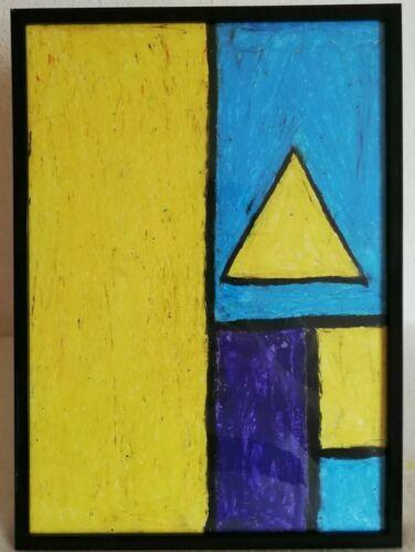 gemalde geometrisches muster moderne kunst auf papier 21x29 7cm dekoration ebay painting art decor bilder modern abstrakt kaufen