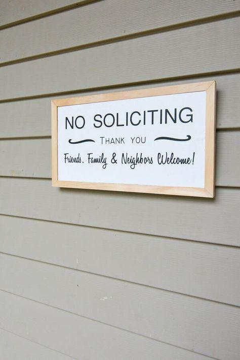 Diy No Soliciting Wood Sign