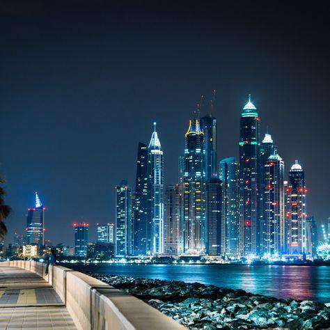 Travel Around The World, Around The Worlds, City Sky, World Of Darkness, Dubai Travel, Night City, Aesthetic Backgrounds, United Arab Emirates, Travel Aesthetic
