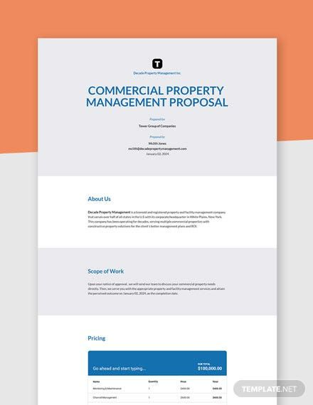 Instantly Download Property Management Proposal Template Sample Example In Microsoft Word Doc Google Docs Property Management Proposal Templates Proposal