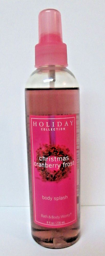 Bath Body Works Christmas Cranberry Frost Body Splash Spray 8 Oz