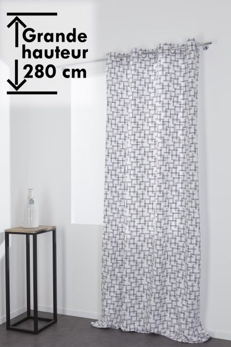 rideau a oeillets 140 x 280 cm grande