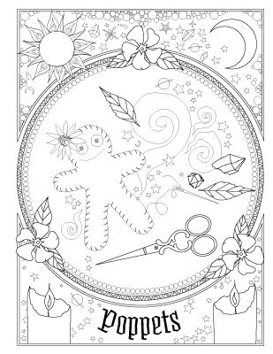 Book Of Spells Witch Coloring Pages Book Of Shadows Coloring Book Pages