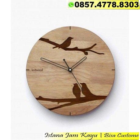 Jam Dinding Kayu Bulat Jam Dinding Bahan Kayu Jual Jam Dinding Kayu Ori Harga Jam Dinding Dari Kayu Jam Dinding Kayu Hand Clock Clock Wall Art Wooden Clock