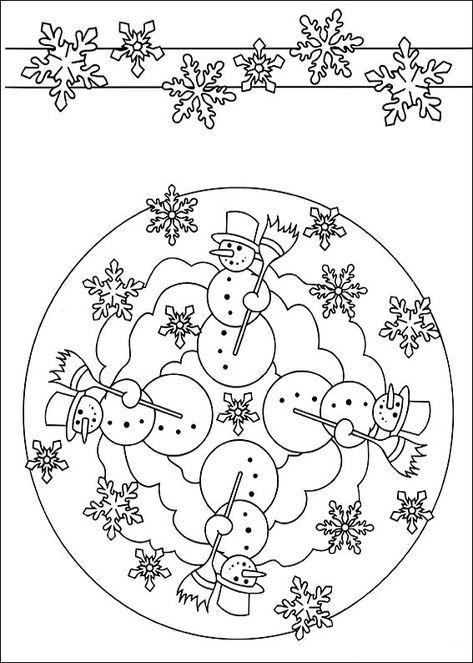 Disegni Mandalas Per Bambini 9 Weihnachten Stickmuster Stick