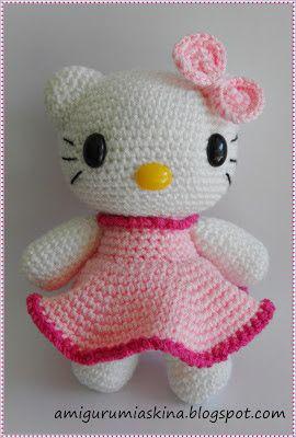 Amigurumi Örgü Oyuncak Tekniğiyle Yapılmış Hello Kitty Modeli ... | 400x270