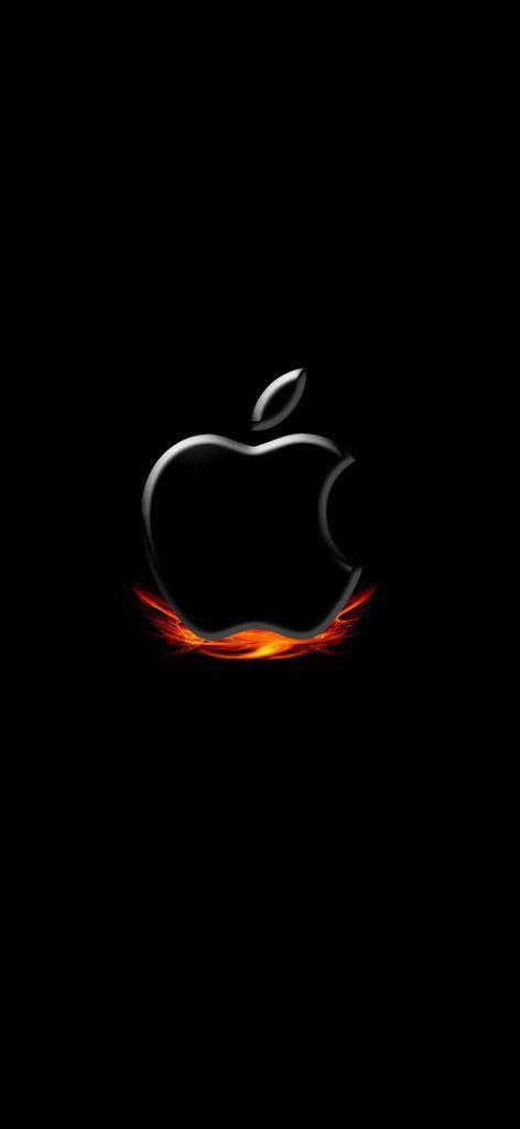 Iphone 11 Wallpaper Apple Logo Black Fire 4k Hd Download Free Apple Logo Wallpaper Iphone Apple Wallpaper Iphone Apple Logo Wallpaper