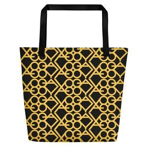 Rich Yoga-Gold Tote – original design by Yoga Based Life. Made In the US. This luxurious Couture Tote Bag is on sale for a limited time. Beautifully designed by Yoga Based Life artists it rivals Gucci, Channel and DKNY. This special tote is made to order. #yoga #yogatote #couturetote #originaltote #madeinUS #madetoorder #meditation #yogaposes #couturegymbag #yogalife #yogamoms #beautifultotes #beautifultotebags #beautifulbeachtote #couturebeachbag