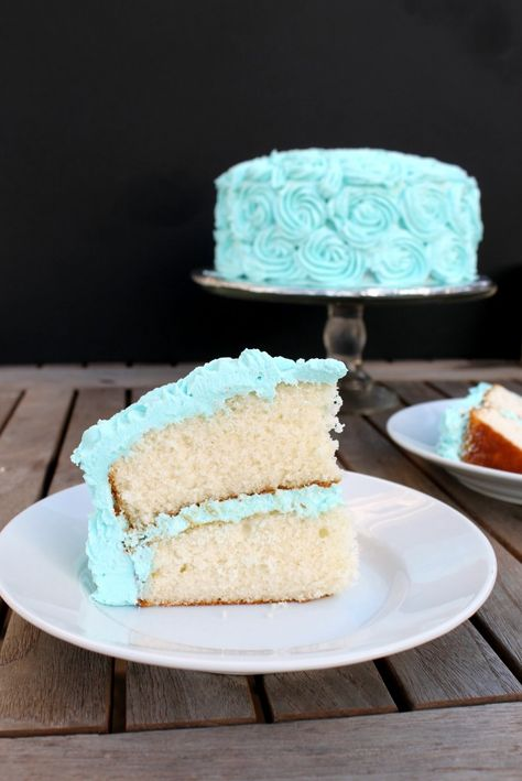 fluffy white cake from scratch.