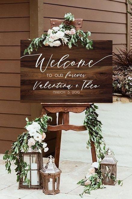 Dunkles Rustikales Holz Willkommensschild Diy Print Dekor Hochzeit Hochzeit Willkommensschilder Dekoration Hochzeit