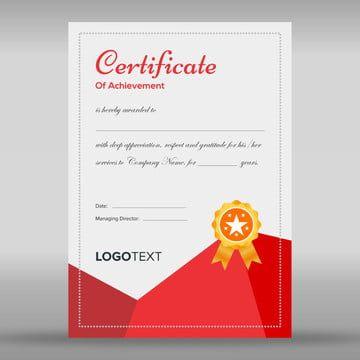 شهادة تقدير قالب تصميم Certificate Design Certificate Design Template Design Template