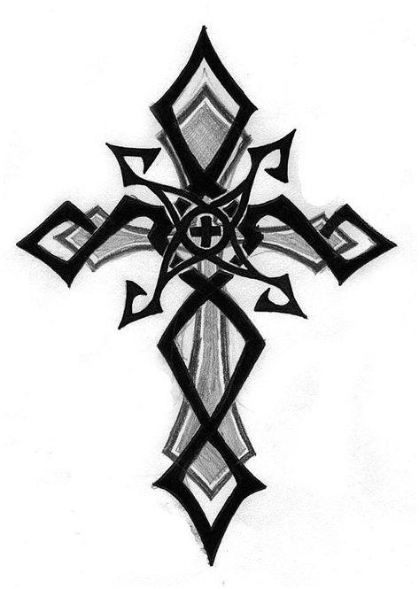 Menssleevetattoo Sleevetattoos Tribal Cross Design Clipart Best