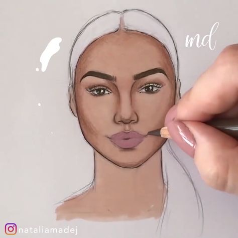 AMAZING REALISTIC DRAWING A FACE MAKEUP TUTORIAL