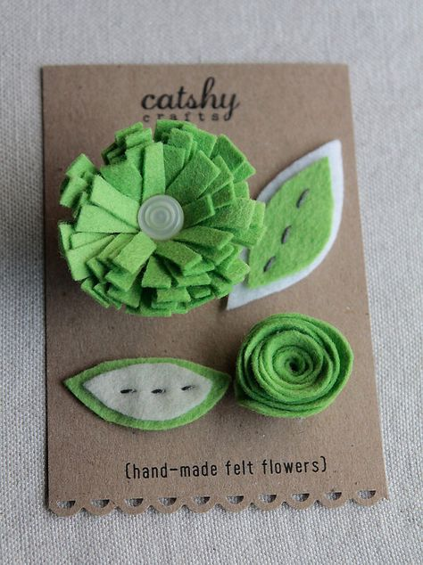 felt craft flower card