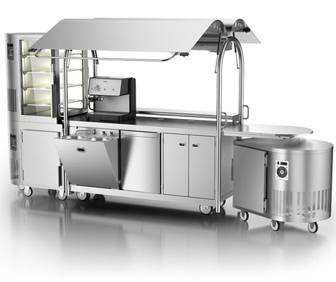 The MVU Mobile KIOSK is a winning combination of state-of-the-art elements that operate independently or in concert, as your business plan allows. Food cart, hot and cold storage and display cabinets. Available in Aus and NZ.