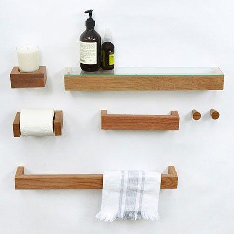 Monoqi Flaches Regal Bambus Modern Towels Handmade Wood Furniture Shelves