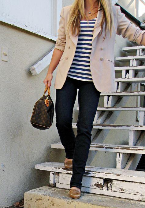 blazer and stripes...soo cute