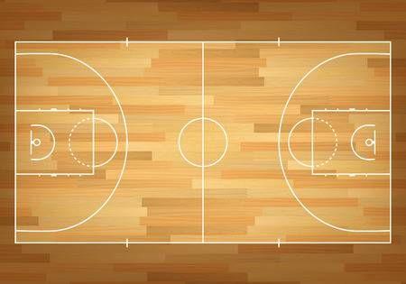 Basketball Court On Top Vector Eps10 Illustration Mural Wallpaper Wall Murals Mural