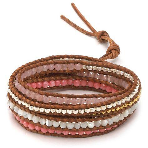Chan Luu Five Wrap Multi Beaded Bracelet found on Polyvore