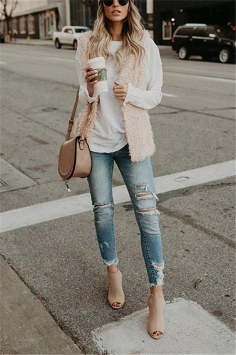 Casual Fashion Pure Color Versatile Plush Loose Fitting Vest – Joygos  Women's Fashion Inspo 2020   #womensfashion #fashioninspo #fashioninspo2019 #fashioninspo2020 #womensfashion2020 #womensfashion2019 #chic #chicwoman #modernwoman #modernoutfit #womensfashionclassy2019