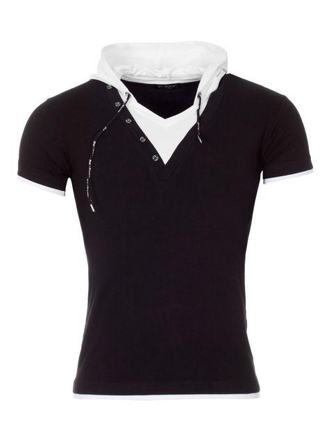 Rerock T Shirt Run Mit Kapuze Black Mens Tshirts Shirts T Shirt